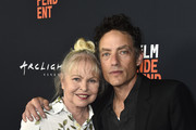 """Michelle Phillips and Jakob Dylan attend the 2018 LA Film Festival - Opening Night Premiere Of """"Echo In The Canyon"""" at John Anson Ford Amphitheatre on September 20, 2018 in Hollywood, California."""