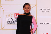 Miranda Tapsell arrives at the 60th Annual Logie Awards at The Star Gold Coast on July 1, 2018 in Gold Coast, Australia.
