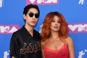 Lucas Goodman and Jillian Hervey of Lion Babe attend the 2018 MTV Video Music Awards at Radio City Music Hall on August 20, 2018 in New York City.