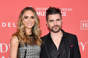 Actor Karen Martinez (L) and recording artist Juanes attend MusiCares Person of the Year honoring Fleetwood Mac at Radio City Music Hall on January 26, 2018 in New York City.