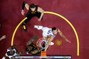 Stephen Curry #30 of the Golden State Warriors drives to the basket in the second half against LeBron James #23 of the Cleveland Cavaliers during Game Four of the 2018 NBA Finals at Quicken Loans Arena on June 8, 2018 in Cleveland, Ohio. NOTE TO USER: User expressly acknowledges and agrees that, by downloading and or using this photograph, User is consenting to the terms and conditions of the Getty Images License Agreement.