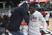 Kevin Garnett (L) and Nate Robinson attend the 2018 NBA All-Star Game Celebrity Game at Los Angeles Convention Center on February 16, 2018 in Los Angeles, California.