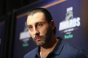 Roberto Luongo of the Florida Panthers attends the 2018 NHL Awards nominee media availability at the Encore Las Vegas on June 19, 2018 in Las Vegas, Nevada.
