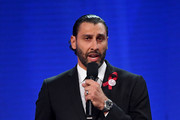 Roberto Luongo of the Florida Panthers speaks regarding the shooting at Marjory Stoneman Douglas High School onstage at the 2018 NHL Awards presented by Hulu at The Joint inside the Hard Rock Hotel & Casino on June 20, 2018 in Las Vegas, Nevada.