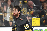 James Neal #18 of the Vegas Golden Knights skates in warm-ups prior to the game against the Washington Capitals in Game Two of the 2018 NHL Stanley Cup Final at T-Mobile Arena on May 30, 2018 in Las Vegas, Nevada.