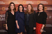 (L-R) Carolyn Bernstein, Courteney Monroe, Jill Cress and Susan Goldberg attend National Geographic's FURTHER Front immersive experience where the network took over a SoHo townhouse to unveil their upfront 2018-2019 slate on April 18, 2018 in New York City.