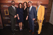 (L-R) Tim Pastore, Courteney Monroe, Carolyn Bernstein, Geoff Daniels and Chris Albert attend National Geographic's FURTHER Front immersive experience where the network took over a SoHo townhouse to unveil their upfront 2018-2019 slate on April 18, 2018 in New York City.