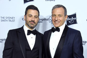 Jimmy Kimmel and Bob Iger arrive at the 2018 From Paris With Love Children's Hospital Los Angeles Gala at L.A. Live Event Deck on October 20, 2018 in Los Angeles, California.