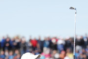 Henrik Stenson of Europe plays his shot from the second tee  during the afternoon foursome matches of the 2018 Ryder Cup at Le Golf National on September 29, 2018 in Paris, France.