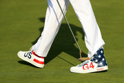 The shoes of Bubba Watson of the United States during the afternoon foursome matches of the 2018 Ryder Cup at Le Golf National on September 28, 2018 in Paris, France.