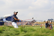 Bubba Watson of the United States plays out of the rough on the 10th  during the afternoon foursome matches of the 2018 Ryder Cup at Le Golf National on September 28, 2018 in Paris, France.