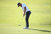 Rickie Fowler of the United States putts during the afternoon foursome matches of the 2018 Ryder Cup at Le Golf National on September 29, 2018 in Paris, France.