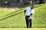 Bubba Watson of the United States chips onto the green during the afternoon foursome matches of the 2018 Ryder Cup at Le Golf National on September 29, 2018 in Paris, France.