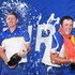 Jon Rahm Photos - Justin Rose of Europe and Jon Rahm of Europe spray champagne as they celebrate after winning The Ryder Cup following the singles matches of the 2018 Ryder Cup at Le Golf National on September 30, 2018 in Paris, France. - 2018 Ryder Cup - Singles Matches