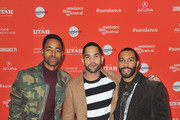 """(L-R) Actors Jay Ellis, Dijon Talton and Omari Hardwick attend the """"A Boy, A Girl, A Dream"""" Premiere during the 2018 Sundance Film Festival at Park City Library on January 22, 2018 in Park City, Utah."""