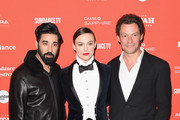 "(L-R) Actors Ray Panthaki, Keira Knightley and Dominic West attend the ""Colette"" Premiere during the 2018 Sundance Film Festival at Eccles Center Theatre on January 20, 2018 in Park City, Utah."