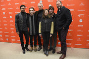 """(L-R) Irrfan Khan, Austin Abrams, Marc Turtletaub, Kelly Macdonald, Bubba Weiler, and David Denman attend the """"Puzzle"""" Premiere at Eccles Center Theatre during the 2018 Sundance Film Festival on January 23, 2018 in Park City, Utah."""