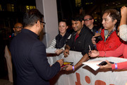 "Anurag Kashyap signs autographs with fans at the ""Husband Material"" premiere during 2018 Toronto International Film Festival at Roy Thomson Hall on September 11, 2018 in Toronto, Canada."