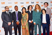 "(L-R) Jonah Hill, Na-kel Smith, Alexa Demie, Gio Galicia,  Olan Prenatt, Sunny Suljic and Ryder McLaughlin attend the ""Mid90s"" premiere during 2018 Toronto International Film Festival at Ryerson Theatre on September 9, 2018 in Toronto, Canada."