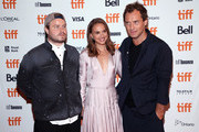 """(L-R) Brady Corbet, Natalie Portman and Jude Law attend the """"Vox Lux"""" premiere during 2018 Toronto International Film Festival at The Elgin on September 7, 2018 in Toronto, Canada."""