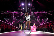 Zuri Tibby walks the runway during the 2018 Victoria's Secret Fashion Show at Pier 94 on November 8, 2018 in New York City.