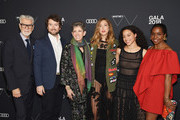 (L-R) Firooz Zahedi, Carlton DeWoody, Beth Rudin DeWoody, Kyle DeWoody Zora Casebere and Lorna Simpson attend the 2018 Whitney Gala Sponsored By Audi on May 22, 2018 at Whitney Museum of American Art in New York City.