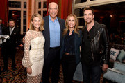 (L-R) Kim Matula, Co-Chairs/CEOs, Fox Television Group, Gary Newman and Dana Walden and Dylan McDermott attend the FOX All-Star Party during the 2018 Winter TCA Tour at The Langham Huntington, Pasadena on January 4, 2018 in Pasadena, California.