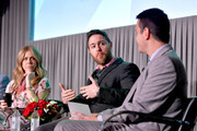 (L-R) Special Guests Rita Wilson, Jacob Bernstein, and TCM Host Dave Karger speak onstage at 'All About Nora' at the 2019 TCM 10th Annual Classic Film Festival on April 13, 2019 in Hollywood, California.