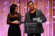 Tamsen Fadal (L) and Mike Woods speak onstage during the 2019 2nd Annual ADAPT Leadership Awards at Cipriani 42nd Street on March 14, 2019 in New York City.