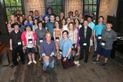 Singer-songwriter Hunter Hayes, ACM Lifting Lives Executive Director Lyndsay Cruz, ACM Executive Director RAC Clark and Vanderbilt Kennedy Center Music Camp Director  Hailee Hunt-Hawkins join ACM Lifting Lives Music Campers at The Wildhorse Saloon on June 14, 2019 in Nashville, Tennessee.
