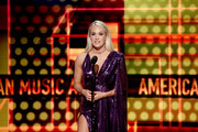 Carrie Underwood speaks onstage during the 2019 American Music Awards at Microsoft Theater on November 24, 2019 in Los Angeles, California.