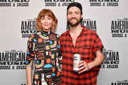 (L-R) Molly Tuttle and Ruston Kelly seen backstage during the 2019 Americana Honors & Awards at Ryman Auditorium on September 11, 2019 in Nashville, Tennessee.
