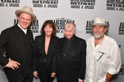 (L-R) John C. Reilly, Fiona Whelan, John Prine and Dub Cornett seen backstage during the 2019 Americana Honors & Awards at Ryman Auditorium on September 11, 2019 in Nashville, Tennessee.