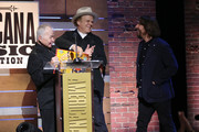 John Prine Dave, Cobb, and John C. Reilly onstage during the 2019 Americana Honors & Awards at Ryman Auditorium on September 11, 2019 in Nashville, Tennessee.
