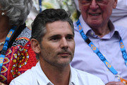 Eric Bana watches the men's semi final match between Novak Djokovic of Serbia and Lucas Pouille of France during day 12 of the 2019 Australian Open at Melbourne Park on January 25, 2019 in Melbourne, Australia.
