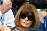 Anna Wintour attends the men's singles semi final match between Novak Djokovic of Serbia and Lucas Pouille of France during day 12 of the 2019 Australian Open at Melbourne Park on January 25, 2019 in Melbourne, Australia.