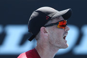 Jamie Murray of Great Britain celebrates a point in his Men's Doubles match with partner Bruno Soares of Brazil against Kevin Krawietz of Germany and Nikola Mektic of Croatia during day eight of the 2019 Australian Open at Melbourne Park on January 21, 2019 in Melbourne, Australia.