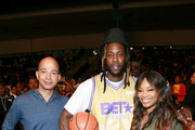 BET Networks President Scott M. Mills, 2 Chainz, EVP Head of Programming BET Networks Connie Orlando attends in the BETX Celebrity Basketball Game Sponsored By Sprite during the BET Experience at Los Angeles Convention Center on June 22, 2019 in Los Angeles, California.