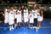(L-R) Lucky Lefty, DDG, Ar'mon, LouGotCash, Allan Houston, Casanova, Miles Brown, Papoose and Yandy Smith play in the BETX Celebrity Basketball Game Sponsored By Sprite during the BET Experience at Los Angeles Convention Center on June 22, 2019 in Los Angeles, California.