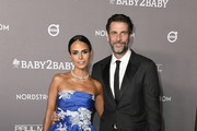 Jordana Brewster and Andrew Form attend 2019 Baby2Baby Gala Presented By Paul Mitchell  at 3LABS on November 09, 2019 in Culver City, California.