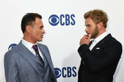 Julian McMahon and Kellan Lutz attend the 2019 CBS Upfront at The Plaza on May 15, 2019 in New York City.