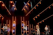 (EDITORIAL USE ONLY) Jimi Westbrook, Karen Fairchild, Kimberly Schlapman and Philip Sweet of Little Big Town perform on stage during day 2 for the 2019 CMA Music Festival on June 07, 2019 in Nashville, Tennessee.