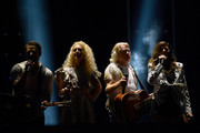 (EDITORIAL USE ONLY) Jimi Westbrook, Kimberly Schlapman, Philip Sweet and Karen Fairchild of Little Big Town perform on stage during day 2 for the 2019 CMA Music Festival on June 07, 2019 in Nashville, Tennessee.