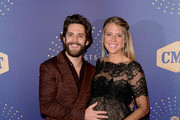 (L-R) Honoree Thomas Rhett and Lauren Akins attend the 2019 CMT Artist of the Year at Schermerhorn Symphony Center on October 16, 2019 in Nashville, Tennessee.