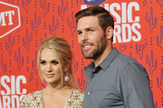 Carrie Underwood and Mike Fisher attend the 2019 CMT Music Award at Bridgestone Arena on June 05, 2019 in Nashville, Tennessee.