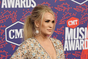 Carrie Underwood attends the 2019 CMT Music Award at Bridgestone Arena on June 05, 2019 in Nashville, Tennessee.