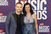 Hunter Hayes and Leslie Fram attend the 2019 CMT Music Awards at Bridgestone Arena on June 05, 2019 in Nashville, Tennessee.