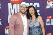Mitchell Tenpenny and Leslie Fram attend the 2019 CMT Music Awards at Bridgestone Arena on June 05, 2019 in Nashville, Tennessee.