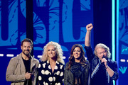 (L-R) Jimi Westbrook, Kimberly Schlapman, Karen Fairchild and Philip Sweet of Little Big Town speak onstage at the 2019 CMT Music Awards at Bridgestone Arena on June 05, 2019 in Nashville, Tennessee.