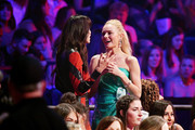 Michelle Monaghan (L) and Kate Bosworth appear onstage during the 2019 CMT Music Award at Bridgestone Arena on June 05, 2019 in Nashville, Tennessee.
